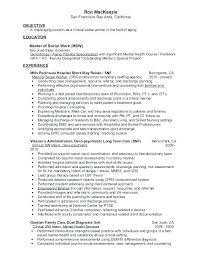 Non Licensed Social Worker Sample Resume Nfcnbarroom Com