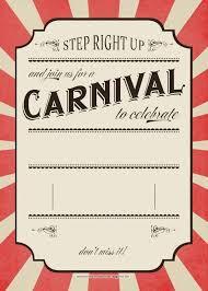 Carnival Birthday Invitations Cool Free Printable Carnival Invitation Templates Collection