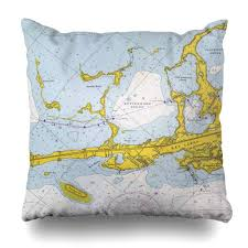 Key Largo Chart Amazon Com Lalilo Throw Pillow Covers Key Largo Nautical