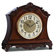 wooden desk clock power high end solid wood silent quartz movement table hand carved pattern plans