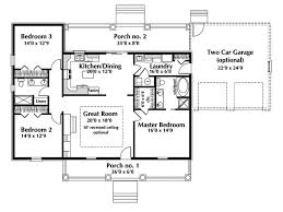 Country Style House Plan  4 Beds 350 Baths 3000 SqFt Plan 21323Country Floor Plans