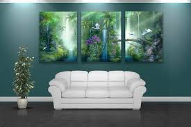forest painting wall art