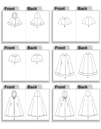 Capelet Pattern Fascinating McCall's 48 Girls' Lined Capelets And Cape
