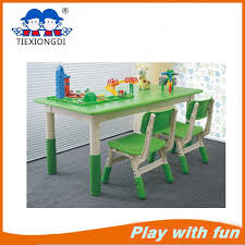 China Kids Plastic Round School Table and Chair Furniture Photos