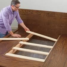 bed frame feet lowes how to make a diy platform bed furniture ...