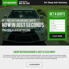 Car Insurance Free Quote Unique Auto Insurance Landing Page Design To Capture Leads And Sales