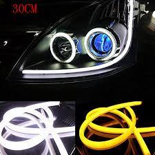 2pcs 30cm Angel Eye Daytime Running Light Tube Guide Soft