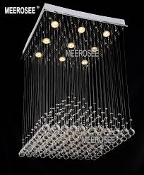 pyramid design crystal ceiling light fixture square res de sala crystal light for dining room w600mm h900mm md8792