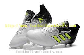 used adidas ace 17 1 leather fg football boots white solar yellow core black