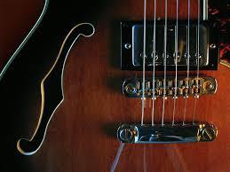 guitar wallpaper gibson semiacoustic guitar arty photo