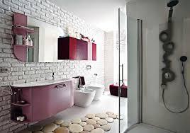 image of stylish contemporary bathroom rugs