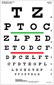 Efficient Printable Eye Chart Vision Test Letter Height