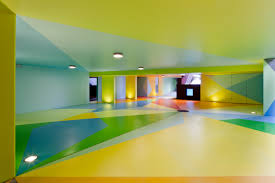 garage inside. Inside Garage House Design With Colorful Paint Low Ceiling And Small Lamp Ideas