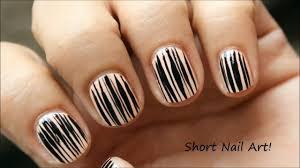 Short Nails Tutorial | Nail Art Design For Very Short Nails ...