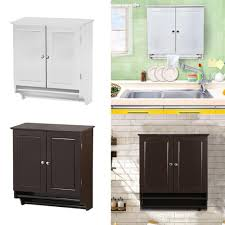2019 Bathroom Cabinet Storage Wall Mount Kitchen Cupboard Shelves
