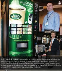Kcup Vending Machine Gorgeous Green Mountain Coffee Begins Shipping Vending Machine For KCups