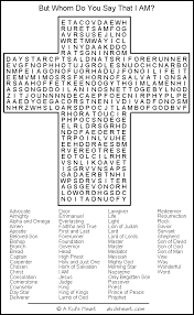 Bible Word Search Puzzle