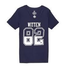 - Walmart Cowboys Nfl Sleeve Tee com Dallas Women's Jason Shirt Short Witten