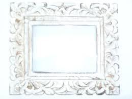 vintage white washed wooden frame leaf design picture frames photo uk