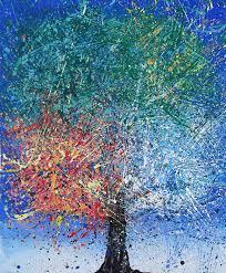 benjie herskowitz artwork the four seasons original painting acrylic nature art