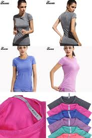 visit to dry quick gym yoga shirt compression tights women s sport t shirts
