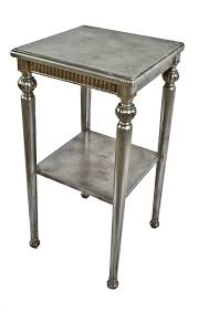 vintage industrial simmons metal side table. Hard To Find Completely Refinished American Industrial Four-legged Stationary Simmons Side Table With Unique Turned Vintage Metal F