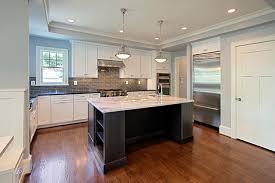 white kitchen glass tile backsplash contemporary kitchen