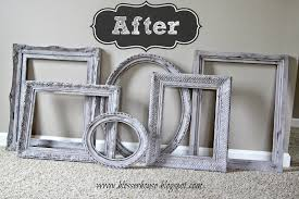 i have other frames that i spray painted a darker color to add some contrast i can t wait to see what it all looks like