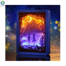 3d Photo Light Box Hot Item Paper Cutting Light Box 3d Table Night Light