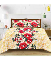 ... Vintana - Pack of 2 - Double Cotton Floral Bed Sheet ...