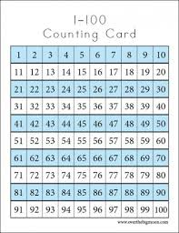 Counting Cards Printables 100 Chart Printable 100 Number