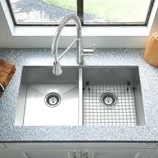 zero radius dual mount double bowl w grid and drain stainless steel kitchen sink kraus 33 bowl inch double