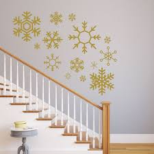 snowflake wall decals winter vinyl home decor available in white