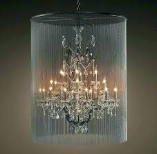 drum shade crystal chandelier black lamp with crystals chandeliers large shades gold lining