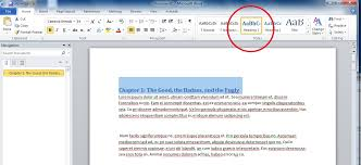 how to set a style in ms word 2010