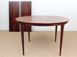 danish mid century modern round dining table by illum wikkelsø