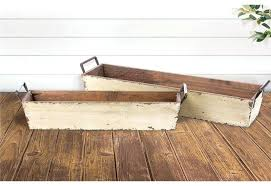 distressed wood tray wooden serving trays storage reclaimed recycled refurbished decorative boxes white tr distressed wood tray wooden ottoman