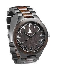treehut men s ebony wooden black stainless steel watch