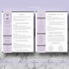 Teacher Resume Template For Ms Word Margot Hired Design Studio