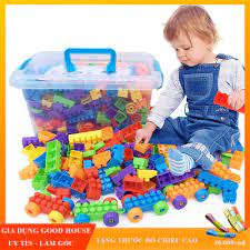 ĐÁNH GIÁ] Đồ chơi xếp hình phát triển trí tuệ cho trẻ loại 100, 256, 520  chi tiết. Lego xếp hình phát triển trí tuệ cho trẻ em., Giá rẻ 125,000đ! Xem