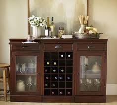modular bar buffet with 2 glass door bases 1 wine grid base pottery barn