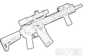 Fortnite Scar Gun Coloring Pages