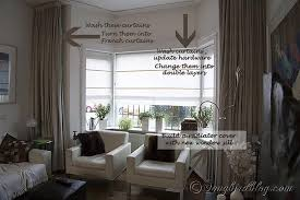 curtains bay window curtains for living room designs marvelous Curtains For Small  Bay Windows