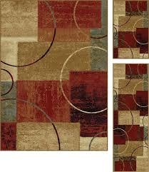 3 piece area rug set 3 piece ivory brown area rug set oriental weavers windsor 3