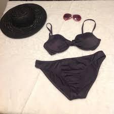 J Crew Grey Bikini Size Large Nwt