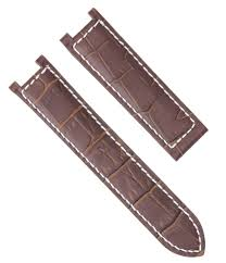 details about leather watch band strap deployment clasp for pasha de cartier 20mm brown ws 2p