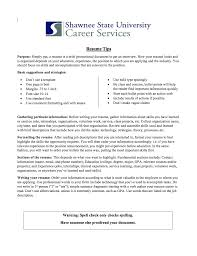 Building A Resume Shawnee State