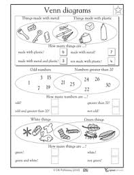 Venn Diagram Practice Sheets Venn Diagrams Part 2 1st Grade Math Worksheets Math