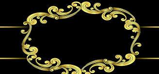 black and gold frame png. Background Black Border, Black, Frame, Golden, Image And Gold Frame Png B
