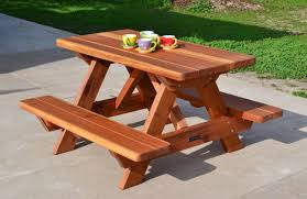 fullsize of relieving benches attached benches forever redwood kids outdoor tables picnic table no standard premium